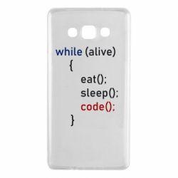 Чохол для Samsung A7 2015 Eat, Sleep, Code