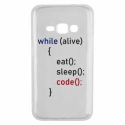 Чохол для Samsung J1 2016 Eat, Sleep, Code