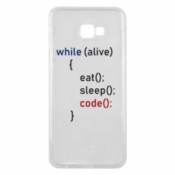 Чохол для Samsung J4 Plus 2018 Eat, Sleep, Code