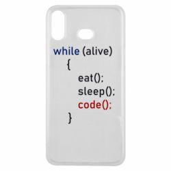 Чохол для Samsung A6s Eat, Sleep, Code