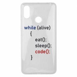 Чехол для Xiaomi Mi Max 3 Eat, Sleep, Code