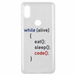 Чехол для Xiaomi Mi Mix 3 Eat, Sleep, Code