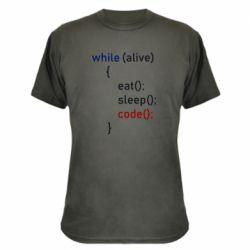 Камуфляжна футболка Eat, Sleep, Code