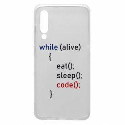 Чехол для Xiaomi Mi9 Eat, Sleep, Code