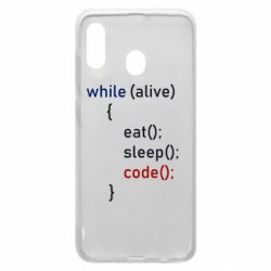 Чохол для Samsung A20 Eat, Sleep, Code