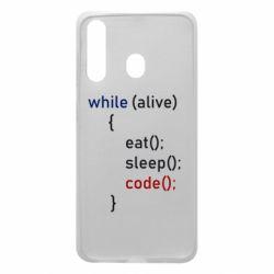 Чохол для Samsung A60 Eat, Sleep, Code