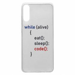 Чохол для Samsung A70 Eat, Sleep, Code