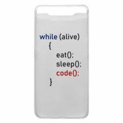 Чохол для Samsung A80 Eat, Sleep, Code