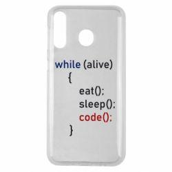 Чохол для Samsung M30 Eat, Sleep, Code