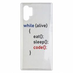 Чохол для Samsung Note 10 Plus Eat, Sleep, Code