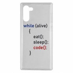 Чохол для Samsung Note 10 Eat, Sleep, Code