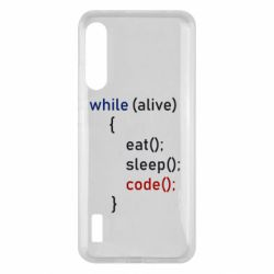 Чохол для Xiaomi Mi A3 Eat, Sleep, Code