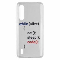 Чехол для Xiaomi Mi9 Lite Eat, Sleep, Code