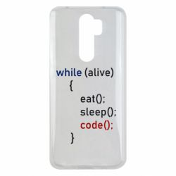 Чехол для Xiaomi Redmi Note 8 Pro Eat, Sleep, Code
