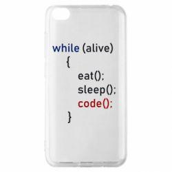 Чехол для Xiaomi Redmi Go Eat, Sleep, Code