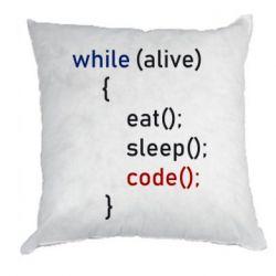 Подушка Eat, Sleep, Code