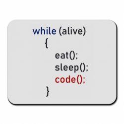 Килимок для миші Eat, Sleep, Code
