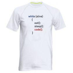 Чоловіча спортивна футболка Eat, Sleep, Code