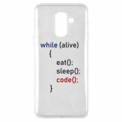 Чохол для Samsung A6+ 2018 Eat, Sleep, Code