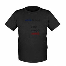 Дитяча футболка Eat, Sleep, Code