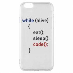 Чохол для iPhone 6/6S Eat, Sleep, Code