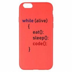 Чохол для iPhone 6 Plus/6S Plus Eat, Sleep, Code