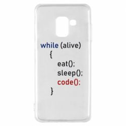 Чохол для Samsung A8 2018 Eat, Sleep, Code