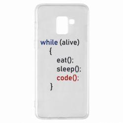Чохол для Samsung A8+ 2018 Eat, Sleep, Code