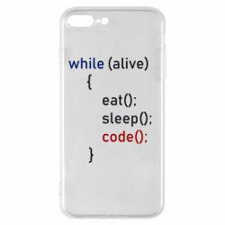 Чохол для iPhone 8 Plus Eat, Sleep, Code