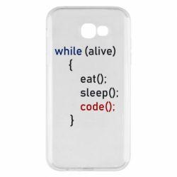Чохол для Samsung A7 2017 Eat, Sleep, Code