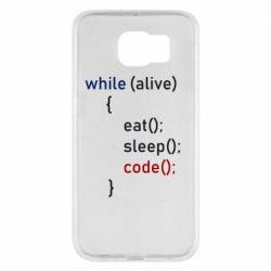 Чохол для Samsung S6 Eat, Sleep, Code