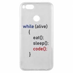 Чехол для Xiaomi Mi A1 Eat, Sleep, Code
