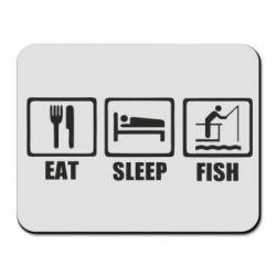 Килимок для миші Eat, sleep, fish