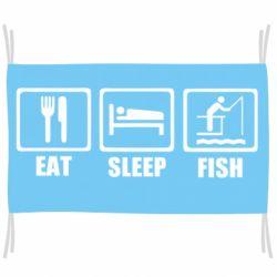 Прапор Eat, sleep, fish