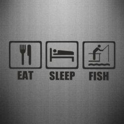 Наклейка Eat, sleep, fish