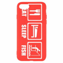 Чохол для iPhone 8 Eat, sleep, fish