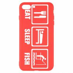 Чохол для iPhone 8 Plus Eat, sleep, fish
