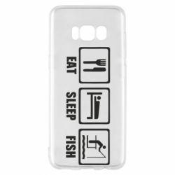 Чохол для Samsung S8 Eat, sleep, fish