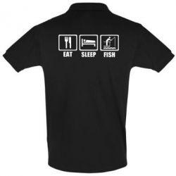 Футболка Поло Eat, sleep, fish