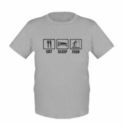 Дитяча футболка Eat, sleep, fish