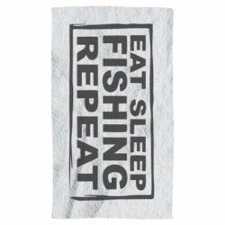 Рушник Eat, sleep, fishing