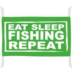 Прапор Eat, sleep, fishing