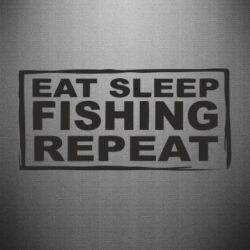 Наклейка Eat, sleep, fishing