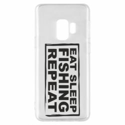 Чохол для Samsung S9 Eat, sleep, fishing