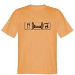 Мужская футболка Eat Sleep Honda - FatLine