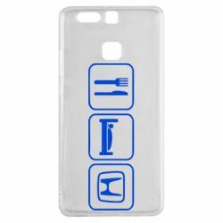 Чехол для Huawei P9 Eat Sleep Honda - FatLine