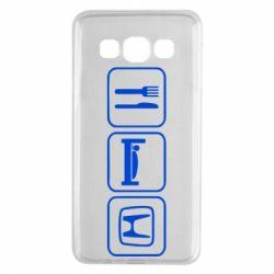Чехол для Samsung A3 2015 Eat Sleep Honda - FatLine