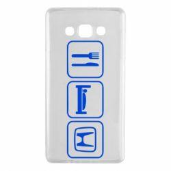 Чехол для Samsung A7 2015 Eat Sleep Honda - FatLine