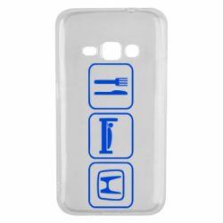 Чехол для Samsung J1 2016 Eat Sleep Honda - FatLine