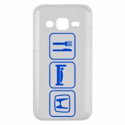 Чехол для Samsung J2 2015 Eat Sleep Honda - FatLine